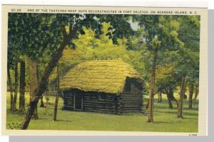 Roanoke Island,No Carolina/NC Postcard,Fort Raleigh,Nr Mint!