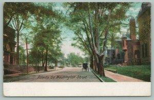 Atlanta Georgia~Washington Street~Trolley Approaches~Beautiful Homes~c1905