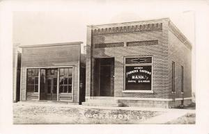 Morrison Iowa~Farmers Savings Bank~Town Hall: Burned Down Since Pic~c1911 RPPC