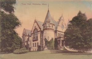 Exterior,  Town Hall,  Wellesley,  Massachusetts,   PU_1909