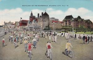 ATLANTIC CITY, New Jersey, PU-1954; Bicycling on the Boardwalk