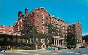 Schenectady New York~Hotel Van Curler~1950s Cars~1951 Postcard