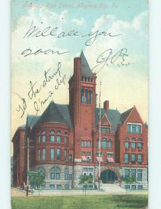 Divided-Back HIGH SCHOOL Allegheny City Pennsylvania PA k0798