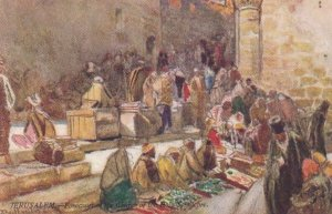 JERUSALEM-Forecourt of the church of the Holy Sepulchre , TUCK 7308 , 00-10s