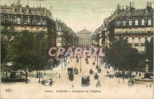 Old Postcard PARIS Avenue de l'Opera