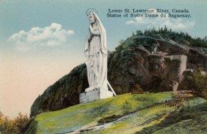 Statue of Notre Dame du Saguenay , Quebec , Canada , 00-10s