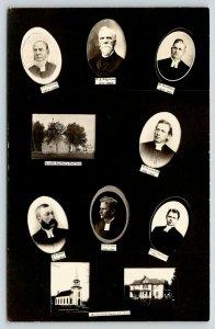 Madrid Iowa~Swedish Lutheran Church~All 7 Pastor Insets~Parsonage~1908 RPPC