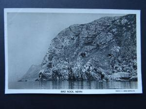 Wales Nefyn Nevin BIRD ROCK c1940's RP Postcard by R.J.Jones (Nevin) Ltd