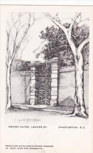 Sword Gate Legare Street by Elizabeth O'Neill Verner Charleston South Carolin...