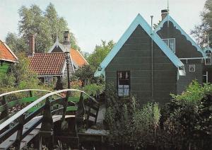 Netherlands Groeten van de Zaanse Schans Bridge Houses Pont