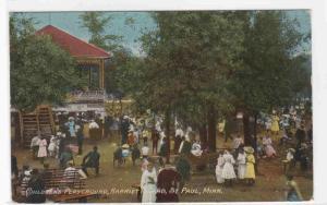 Childrens Playground Harriet Island St Paul Minnesota 1915 postcard