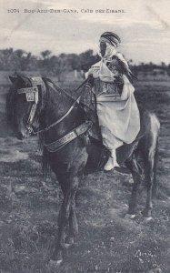 Arab man on Horse , Bou-Aziz-Ben-Gana, Caid des Zibans, 00-10s