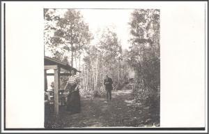 Vintage Cyko RPPC Man & Woman Postcard