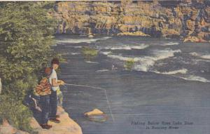 Fishing Below Bass Lake Dam In Roaring River Missouri