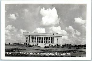 Oklahoma City RPPC Real Photo Postcard OKLAHOMA HISTORICAL BUILDING c1940s