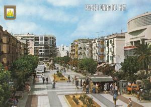 Paseo Vara De Rey Spain Postcard