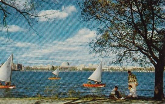 Massachusetts Institute Of Technology With Part Of The Institute Dinghy Fleet...