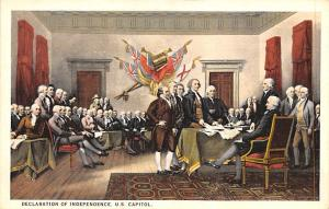 Colonial Post Card Old Vintage Antique Postcard Declaration of Independence U...