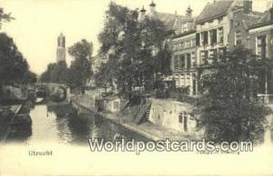 Utrecht Germany, Deutschland Postcard Oudegracht Smeebrug Utrecht Oudegracht ...