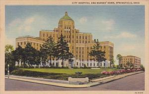 City Hospital And Nurses Home Springfield Ohio