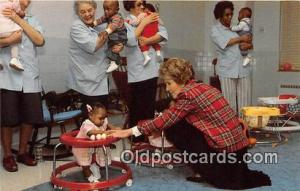 Foster Grandparents, Hyattsville, Maryland, USA Postcard First Lady Nancy Re...