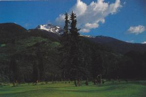 Arnold Palmer designed golf course with Whistler Mountain above, British Colu...