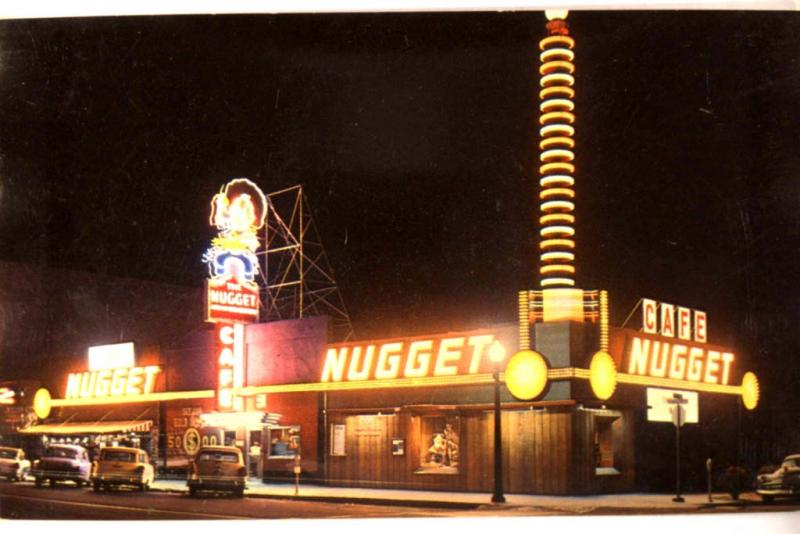 Unused 1950's NUGGET cafe RESTAURANT in Carson City Nevada NV Postcard y2359-22