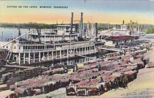 Tennessee Memphis Loading Cotton On The Levee 1952