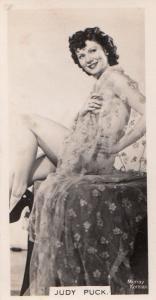 Judy Puck Hollywood Actress Rare Real Photo Cigarette Card