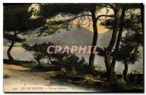 Old Postcard The Cap Martin to Menton
