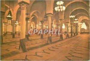 Postcard Modern Tunisia Kairouan prayer room of the large mosque