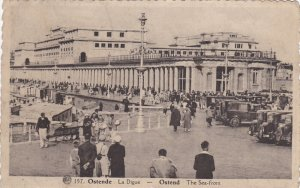 OSTENDE, West Flanders, Belgium, 1900-1910's; The Sea Front, Classic Cars