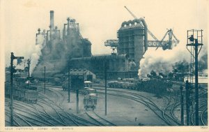 England Postcard industrial landscape Corby Iron Works near Kettering