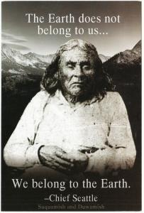 Chief Seattle We Belong to the Earth Native American Quote Postcard