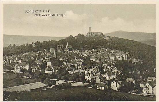 Germany Koenigstein Blick vom Hilda Tempel