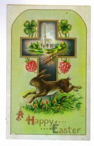 Grooville, New York to Othello, Washington 1912 Easter Postcard, Doane Cancel