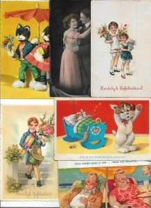Diverse Theme People Animals And More Postcard Lot of 20 01.12