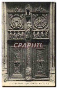 Old Postcard Rouen Eglise Saint Maclou Gate North Coast