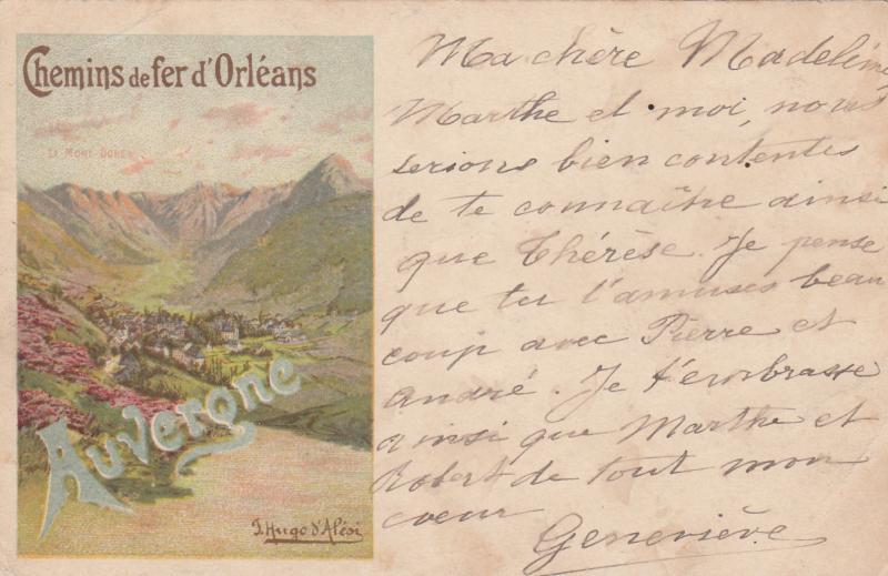 Chemins de Fer d´Orleans , AUVERONE, France , PU-1900 ; Poster Art