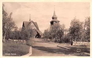 Sweden Old Vintage Antique Post Card Kiruna Kyrkan Unused