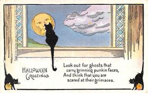Halloween Post Card Old Vintage Antique Robbins 1911