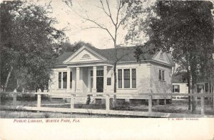Winter Park Florida Public Library Vintage Postcard AA16074