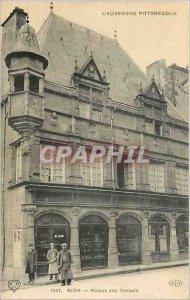 Old Postcard Riom Maison des Consuls