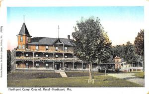 Northport ME Northport Camp Ground, Hotel Postcard
