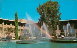 Stanford California~University Medical Center~Fountain Spray~1960s Cars~PC