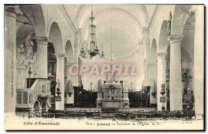 Old Postcard Dinard Interior of the Church