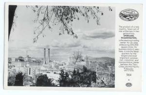 RPPC View of Downtown Spokane Washington WA