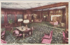 CLEVELAND, Ohio, 1900-1910s; Gentlemens Lounge & Library, Hotel Statler