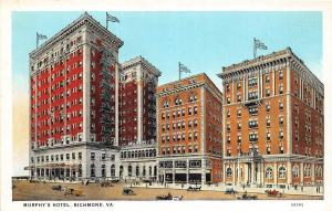 A54/ Richmond Virginia Va Postcard c1915 Murphy's Hotel Building