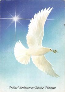 BT4738 Prettige Kerstdagen en Gelukikg Nieuwjaar bird oisseaux dovn
